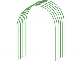 Дуги парник. мет. в ПВХ  диам.5  (дл.2,2м., шир.0,9м., выс.0,85м.) (6шт./уп.)