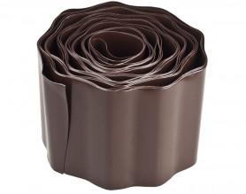Бордюр садовый Palisad коричневый 10см х 900см (МИ-64483)