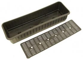 Ящик для цветов с дренажной решеткой Черный (Ижевск)