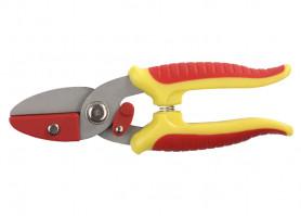 """Секатор GRINDA """"Мини""""с 2-компонент.ручками с упорной пластиной, 175мм (8-423285)"""
