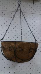 Кашпо коковита ГринБэлт подвесное сфера узор 3 (30см)  21-1008
