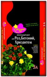 Грунт Цветочный Рай  Розы, Бегонии, Хризантемы  3л. БХЗ