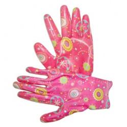 Перчатки LIST'OK нейлон с нитрил.покр. розовый M LNL189 M