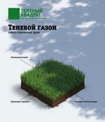 Газон  Зеленый Квадрат  Теневой (1кг./уп.)