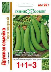 Горох Дружная семейка сахарный (серия 1+1/25гр.) (Гавриш)