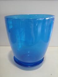 Г.стекло с подд. №3 93-026 алеб. крш. синий d145 h154 (арт. 4840154717)