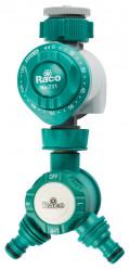 Таймер RACO для подачи воды, механический, в комлекте с распределит.2-х канал. (4275-55/732D)