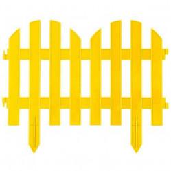 Забор декорат. GRINDA Палисадник, 28х300см, желтый (422205-Y)