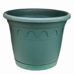 Горшок ROMA с поддоном  3,5л. зеленая сосна Фр. (Г.сити)