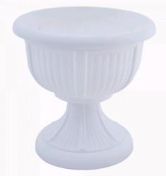 Кашпо-вазон Леон 31  белый 114003 (Алеана)