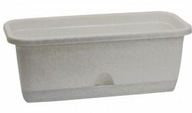 Балконный ящик с поддоном 40см. Мраморный М3220 (М-пласт.)