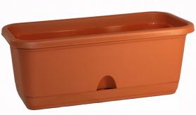 Балконный ящик с поддоном 40см. Терракотовый М3220 (М-пласт.)