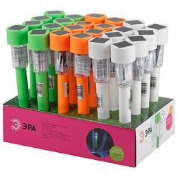 Светильник садовый ЭРА на солн.батарее, пластм., цветной, 32см SL-PL32-CLR