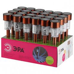 Светильник садовый ЭРА на солн.батарее, нерж.сталь, медный, 32см SL-SS32-CPR