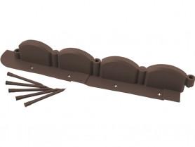 Бордюр декорат. GRINDA ВОЛНА, 9х256см, коричневый 422229
