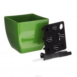 Горшок с автополивом Green Apple  квадратный d-190 фуксия DUK190-F