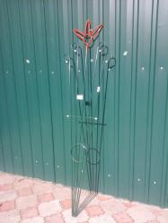Шпалера Веер-Цветок Зеленая (выс.1,95м.,шир.0,55м.) арт.Т632