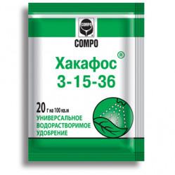 Хакафос COMPO 3-15-36 для плодообразования водораств.(пак.20гр.)