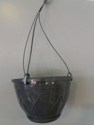 Кашпо Лилия Подвесная  2,5л. Антрацит (Santino)