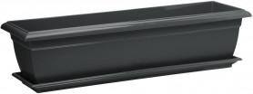 Балконный ящик с поддоном Прямоугольный  600мм Антрацит (Santino)