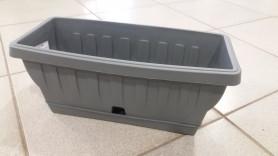 Балконный ящик ТЕРРА-Натура 40см  Гранит 31202 (ВАМА)