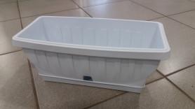 Балконный ящик ТЕРРА-Натура 40см  Белый 31202 (ВАМА)