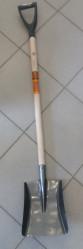Лопата GRIZZLY совковая тип 1 самозаточн., рельсов.сталь с дерев.черенком и V-ручкой  10022