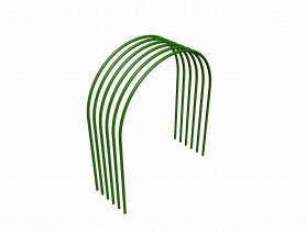 Дуги парник. мет. в ПВХ  диам.5  (дл.1,7м., шир.0,85м., выс.0,6м.) (6шт./уп.)