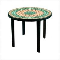 Стол пластм.  Мозаика темно-зеленый  (Альтер. М7444)