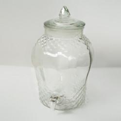 Бутыль Лимонадница 8л резная с пластик. краном+стекл. крышка ВРТ-15