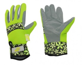 Перчатки LIST'OK для роз искус. замши и микроф. зеленый L  LIV168-08