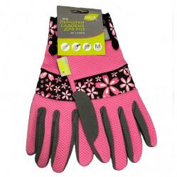 Перчатки LIST'OK для роз искус. замши и микроф. розовый М  LIV168-05