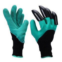Перчатки Praktische Home, нейлон латексный облив 4 пластик когтя на правой руке G-110