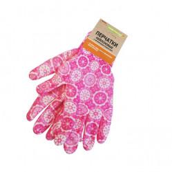 Перчатки Praktische Home, нейлон нитрил облив Розовые G-111-2
