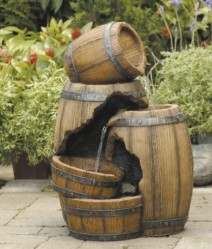 Фонтан садовый Green Apple  Бочка 55см. арт.GWXF02823