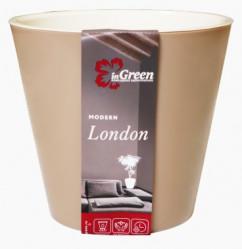Горшок London 160мм 1,6л молочный шоколад (ПР)