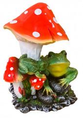 Фигура Две лягушки под грибом H37 см 123238/F189
