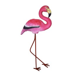 Фигура Розовый фламинго L30 W15 H57см 713568/F710