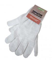 Перчатки Praktische Home, х/б, 5 нитей, 10класс с ПВХ, Восторг белые