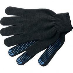 Перчатки Praktische Home, х/б, 5 нитей, 10класс с ПВХ, Точка черные