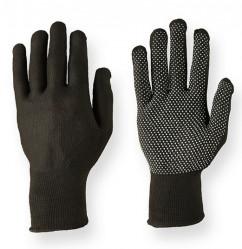 Перчатки Praktische Home, нейлон с ПВХ Микроточка черные G-104