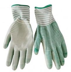 Перчатки Praktische Home, нейлон полоска облив полиуретан зеленые G-117