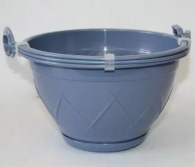 Кашпо Лилия Подвесная  2,5л. Дымчатый синий (Santino)