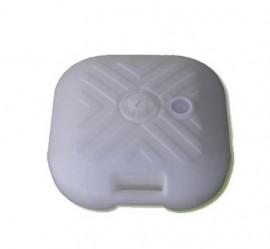 Подставка для зонта (пластик) квадратная (белая) арт.58