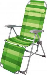 Кресло-шезлонг Ника К3 (каркас серый., ткань графит)  арт.К3-МТ005 КЗ-ГР