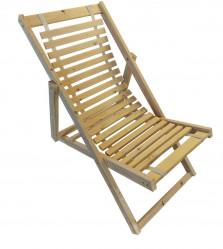 Кресло-шезлонг Альбатрос-2 (деревянный, светл.каркас)  арт.A183a