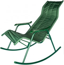Кресло-качалка Нарочь (каркас зел., ткань зел.)  арт.c238/8017