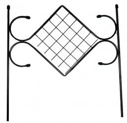 Секция забора метал. Ромбик Малый (выс.0,57м.,дл.0,57м.)