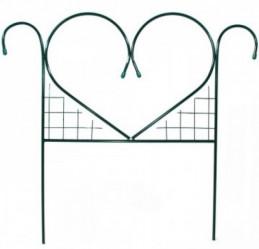 Секция забора метал. Сердце (выс.0,76м.,дл.0,77м.)
