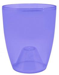 Кашпо Орхидея 18х21  фиолетово-прозрачный 115054 (Алеана)